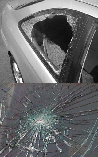 bulletproof car compared to smashed window